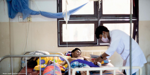 Malaria patients getting treatment