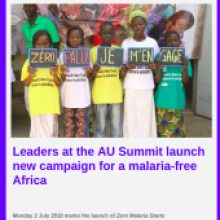 New campaign launched for a malaria-free Africa